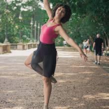 woman dancing valley outdoor